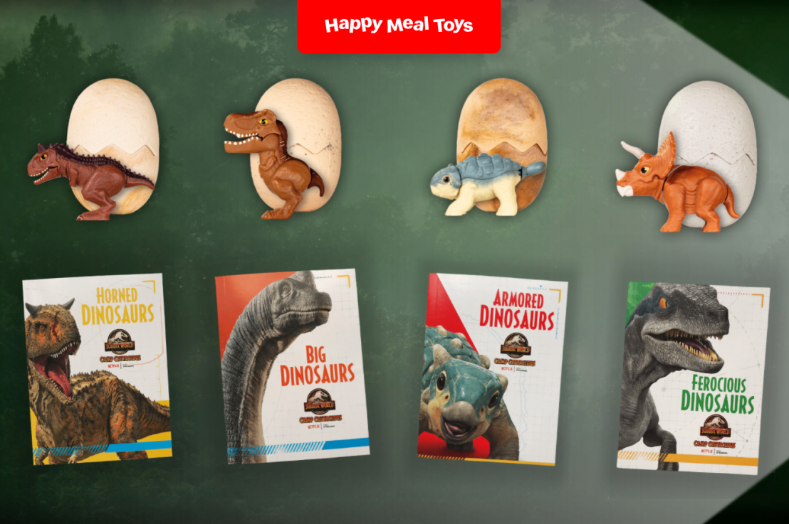 McDonald's Jurassic World Camp Cretaceous Happy Meal Toys!